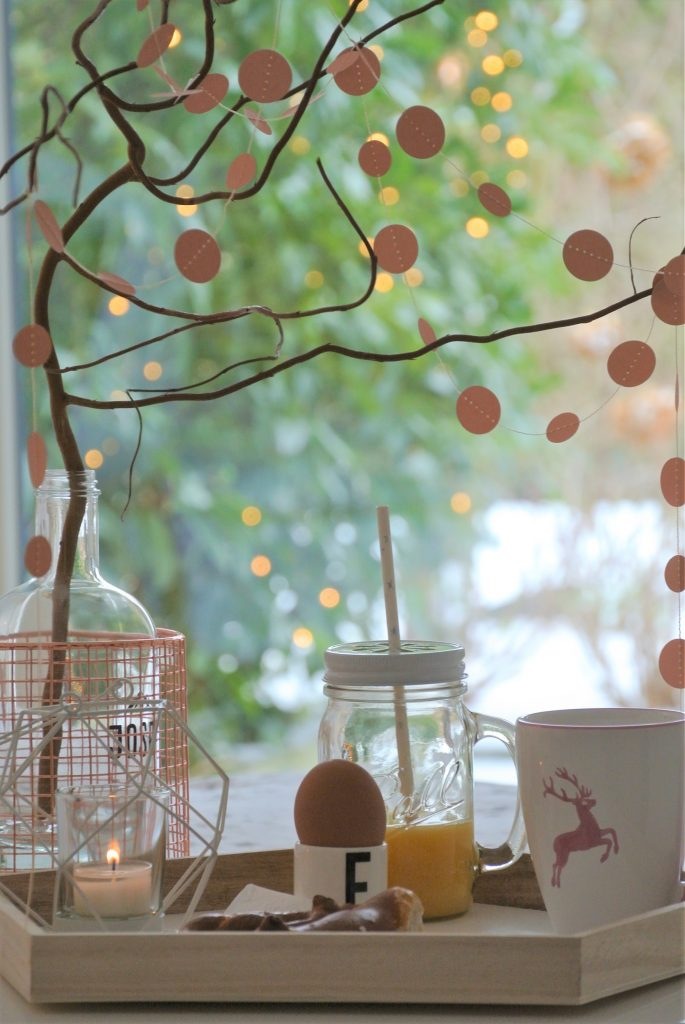 Gästezimmer-Frühstück-am-Bett-mit-Aussicht-in-den-Garten