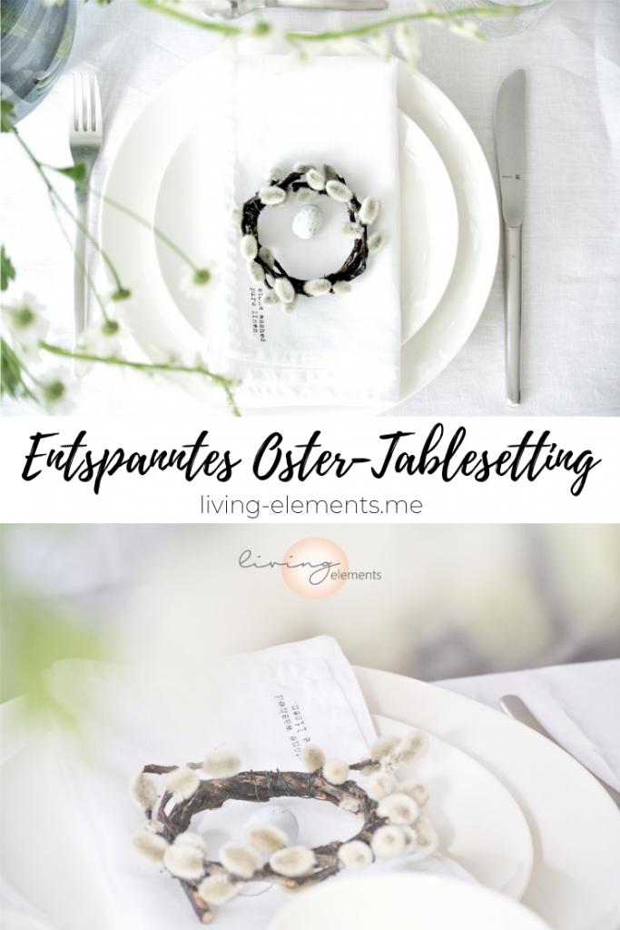 Entspanntes Oster-Tableseeting / Osterdeko / Ostertisch / DIY-Deko / Weidenkränzchen / Tischdeko / Ostern