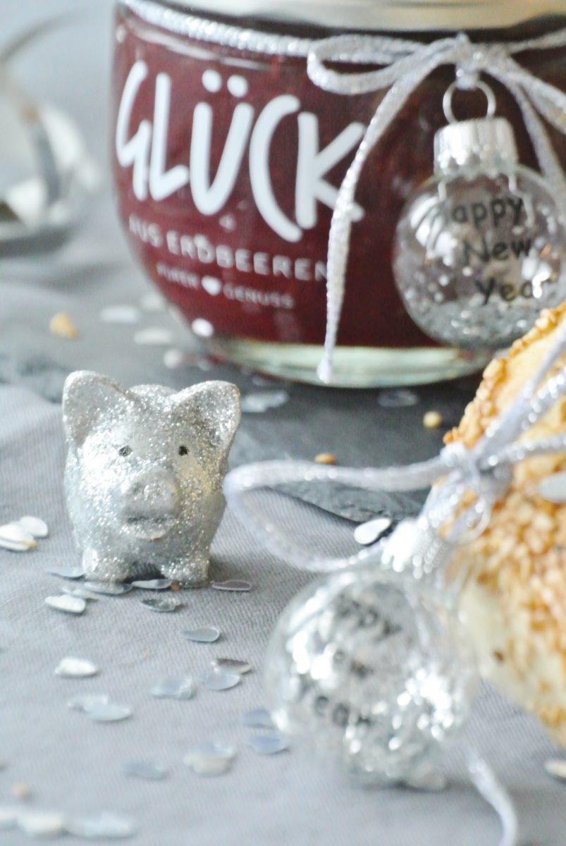 Glück-Marmelade-Neujahr