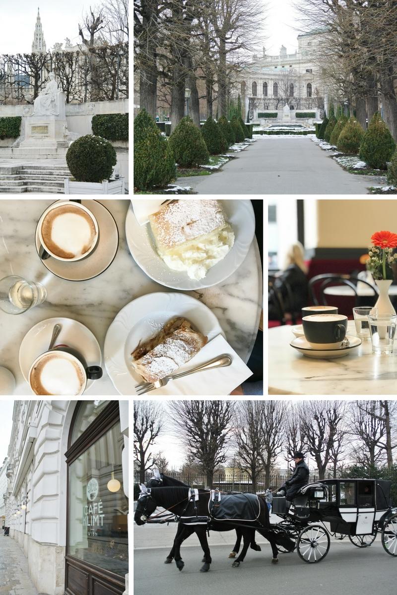 Wien-Volksgarten-Sissi-Denkmal-Café-Klimt-Fiaker