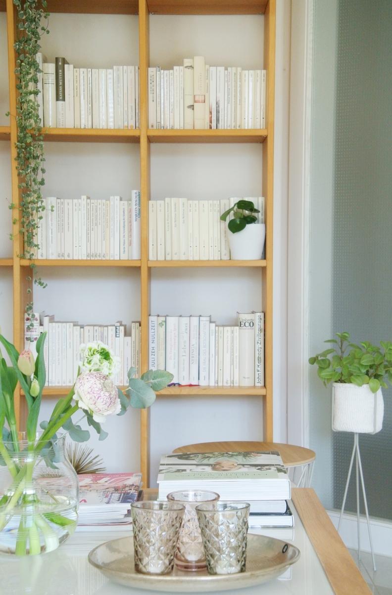 Bücherregal-farblich-sortiert