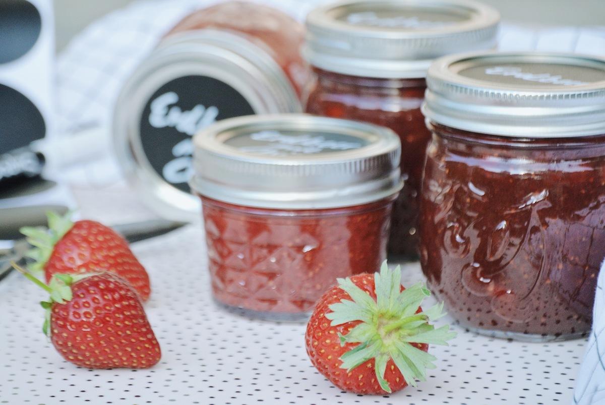 Marmelade-ohne Zucker-aus-Erdbeeren