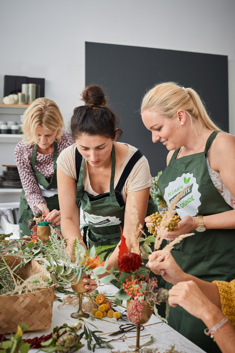 Blumen-Workshop-Erntedankpokal