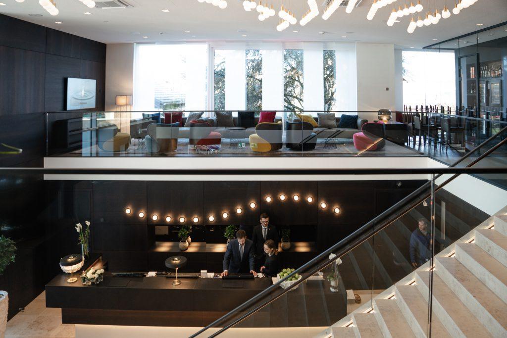 Fährhaus Koblenz Lobby Eingangsbereich Rezeption