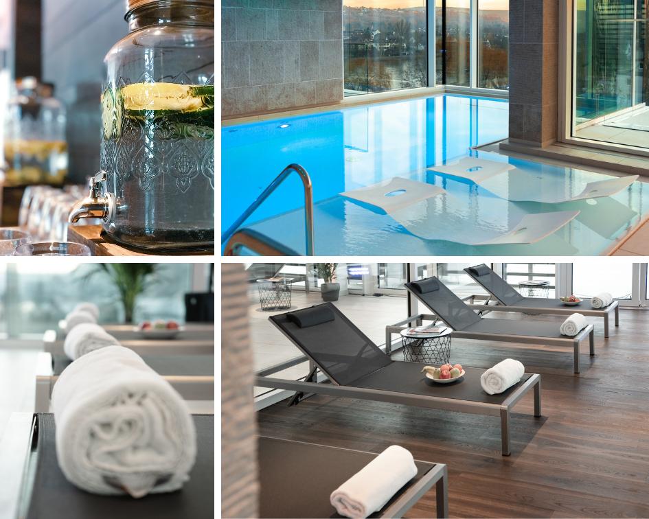Fährhaus Koblenz Indoor Infinitypool Ruheraum Schwimmbad Wellness
