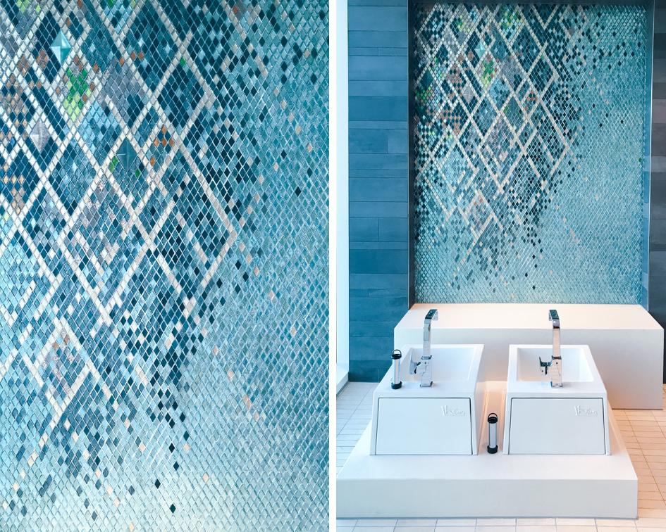 Fährhaus Koblenz Saunalandschaft Mosaik blau