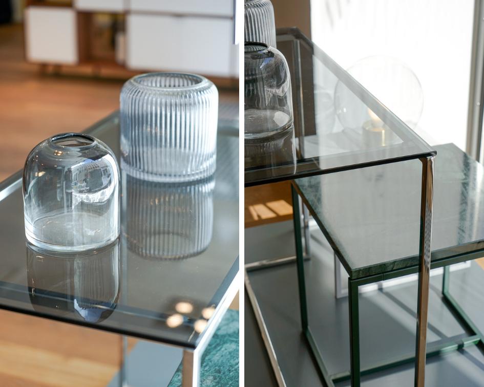 MYCS Beistelltischchen SYDE / Glastisch / Marmortisch / Modulare Möbel / individuellen Designmöbel /  Möbel nach Maß / MYCS Showroom München