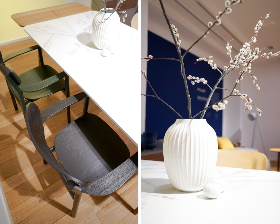 MYCS Esstisch TYMBER mit Beinen NORDYC / Stuhl PRYME / modulare Möbel / individuelle Designmöbel / Möbel nach Maß / MYCS Showroom München
