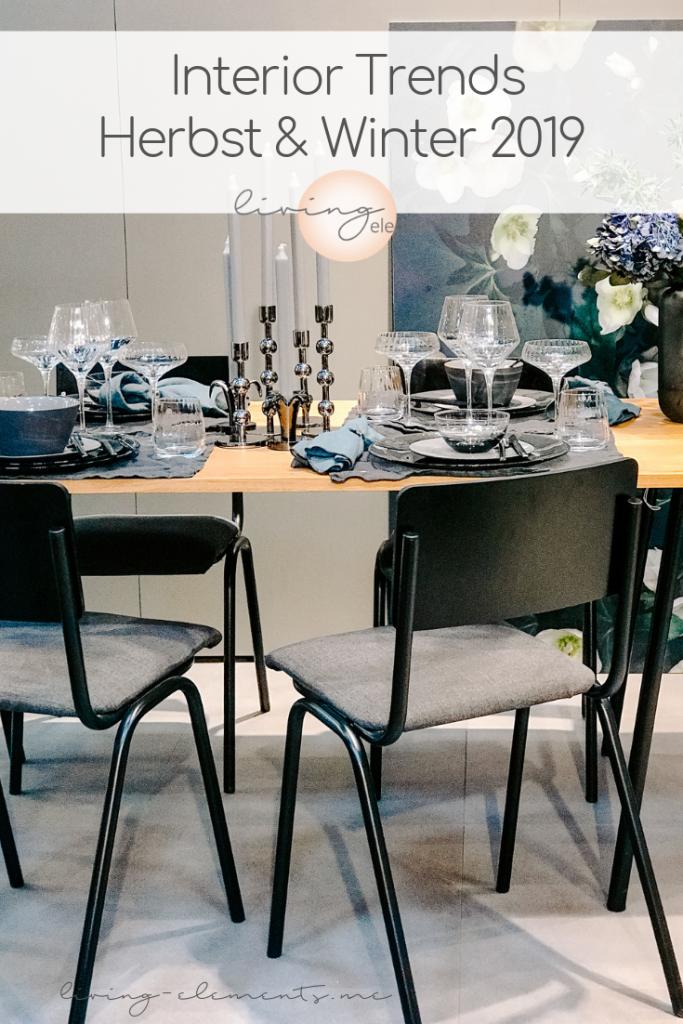 TrendSet Sommer 2019 Interior Trends Herbst und Winter 2019, gedeckter Tisch Broste Copenhagen, Pinterestgrafik