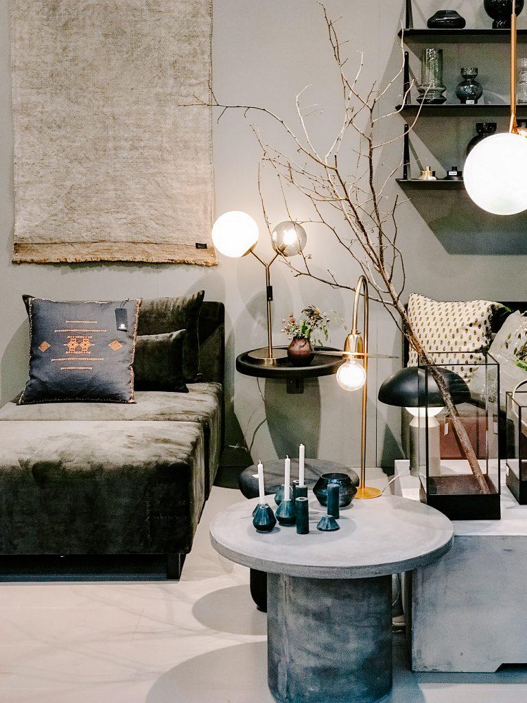 TrendSet Sommer 2019 Interior Trends Herbst und Winter 2019 house doctor Sofa und Lampen
