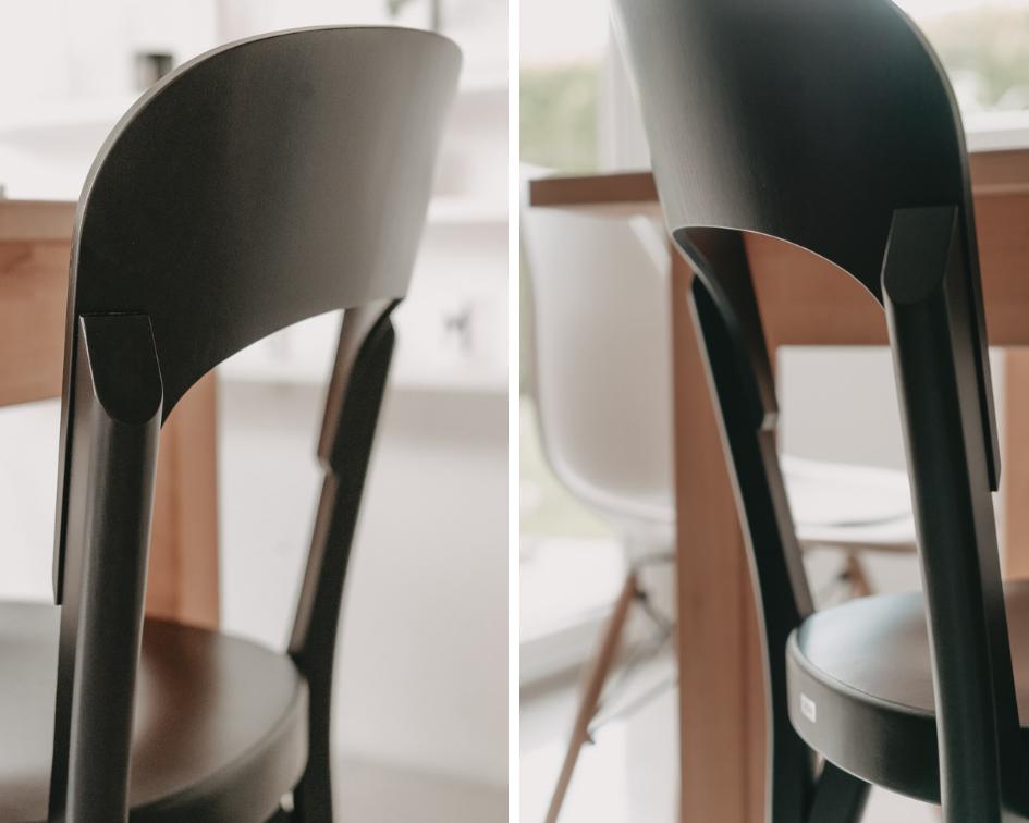 Thonet-Stuhl-107-Designklassiker-Robert Stadler-Bugholzstuhl-Holzstuhl-Details-Rückenlehne-Verarbeitung