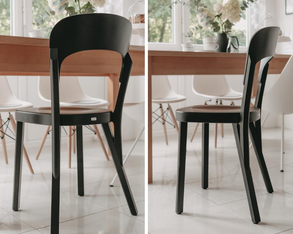 Thonet-Stuhl-107-Designklassiker-Robert Stadler-Bugholzstuhl-Holzstuhl