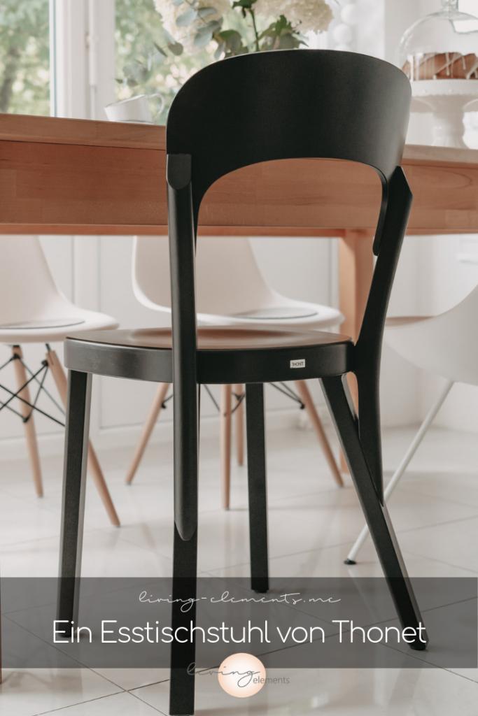 interestgrafik für Thonet Stuhl 107 in Schwarz an Esstisch
